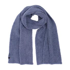 Brushed Furry Scarf - Navy NAVY