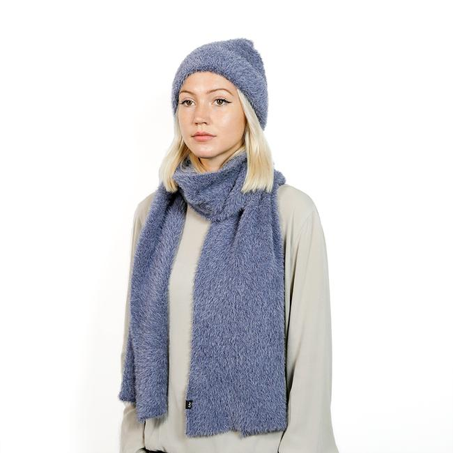 Brushed Furry Hat - Navy