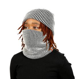 Ribbed Neckwarmer - Black and White