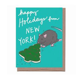 Cookie Rat Holiday Greeting Card