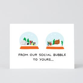 Social Distancing Snow Globes Greeting Card