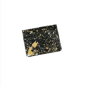 Hand-Painted Cardholder - Black Gold