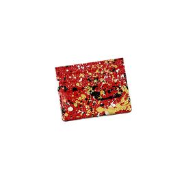 Hand-Painted Cardholder - Red Gold