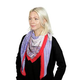 Colorblock Scarf - Blue Red