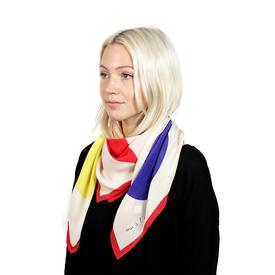 Shapes Scarf - White