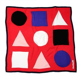 Shapes Scarf - Red RED