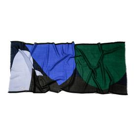 Two-tone Scarf - Blue and green BLUE_BLK