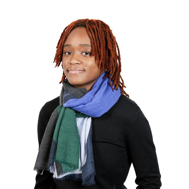 Two- Tone Scarf - Blue And Green