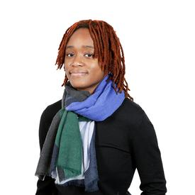 Two-tone Scarf - Blue and green