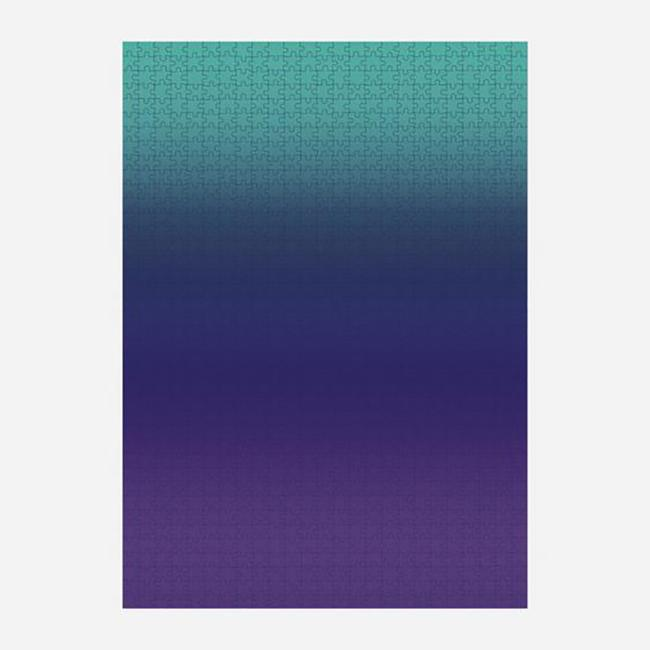 Gradient Puzzle - Teal/Blue/Purple