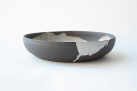 Ilog Serving Bowl - Dark Stoneware