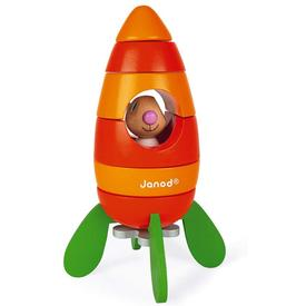 Magnetic Rabbit and Carrot Rocket Toy