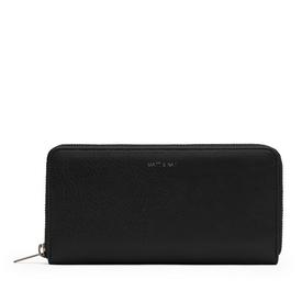 Vegan Zip Wallet - Black BLACK