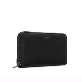 Vegan Zip Wallet - Black