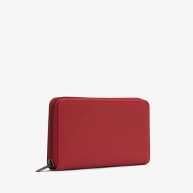 Vegan Zip Wallet - Red