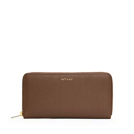 Vegan Zip Wallet - Brick Brown BRICK_BROWN