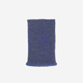 Ribbed Neckwarmer - Blue and Grey