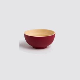 Mini Bamboo Bowl - Matte Red