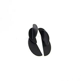 Demi Junction Earrings - Matte Black
