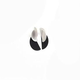 Demi Junction Earrings - Black Silver