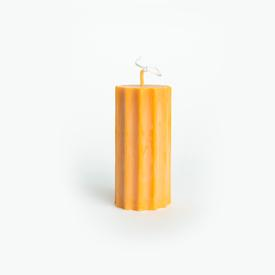 Sunny Column Soy Candle - Yellow