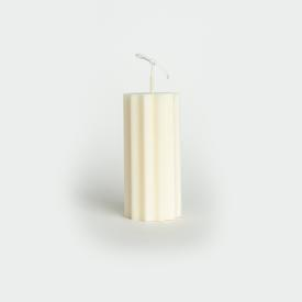 Sunny Column Soy Candle - White