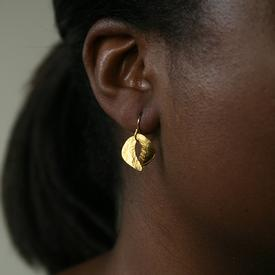 Tiny Sculptured Organic Earrings
