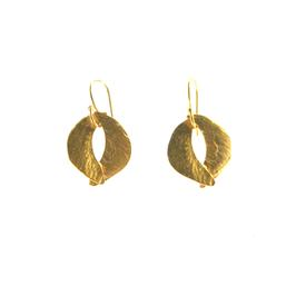 Tiny Sculptured Organic Earrings GOLD_PLATE