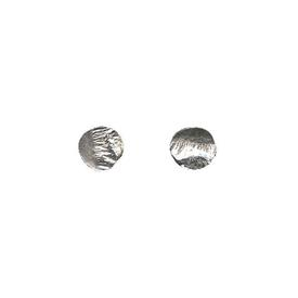 Tiny Reticulated Stud Earrings SILVER