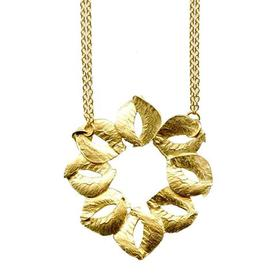 Organic Sculptured Gold Necklace GOLD_PLATE