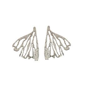 Edge of the Earth - Sterling Silver Wing Post Earrings SILVER