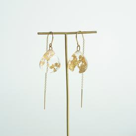 Transparent Gold Earrings
