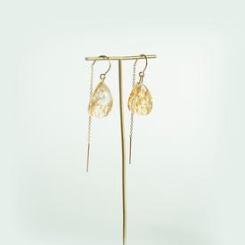 Transparent Gold Earrings GOLD_CLEAR