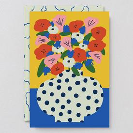 Flowers Vase Greeting Card