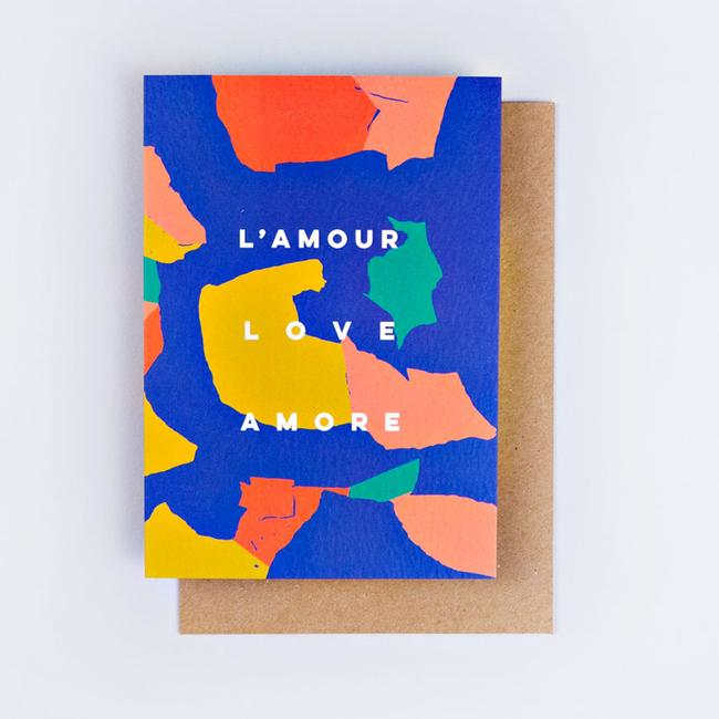 L ' Amour Love Amore Greeting Card