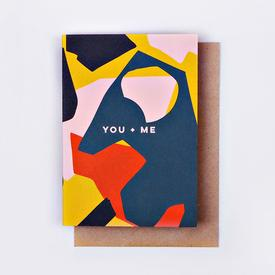 You + Me Greeting Card