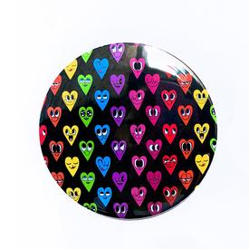 Rainbow Hearts Pocket Mirror