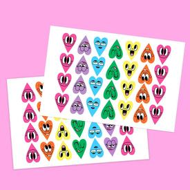 Happy Hearts Sticker Set
