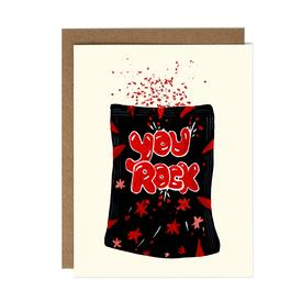 You Rock Pop Rocks Card