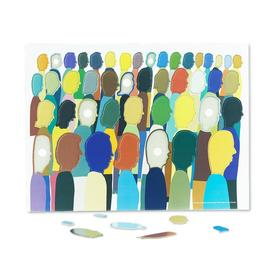 Overlaying Figures Puzzle by Chris Johanson