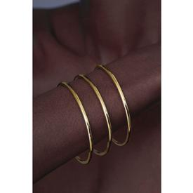 Crescent Bangle Bracelets Set of 3