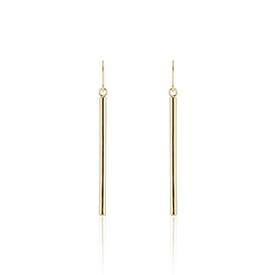 Bar Drop Earrings - Short BRASS