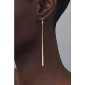 Bar Drop Earrings - Long