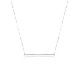 Bar Necklace - Silver - Short STERLING