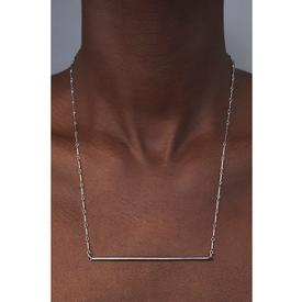 Bar Necklace - Silver - Long