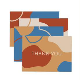Retro Thank You Greeting Card Set