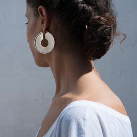 The Big Circle Earrings - Sterling Silver