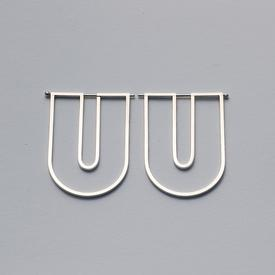 The Wire U Earrings - Sterling Silver