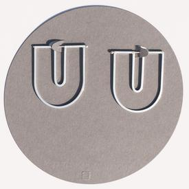 The Wire U Earrings - Sterling Silver STERLING_SILVER