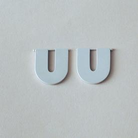 The Small U Earrings - Sterling Silver STERLING_SILVER